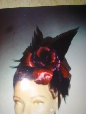 Этот цветок - роза и листья сделаны из волос постиж  - Фото1217.jpg