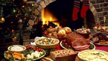 Чем для вас пахнет Новый год? - еда у камина.jpg